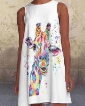 Animal Print Sleeveless Mini Dress