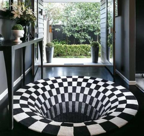 Vortex Illusion Rug