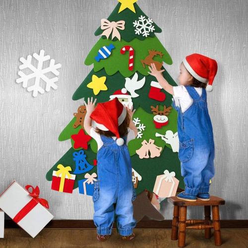 Best Gift For Children-DIY Felt Christmas Tree / Snowman