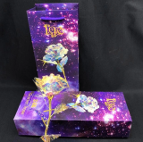 Christmas Pre-Sale-24K Galaxy Rose with Love Base