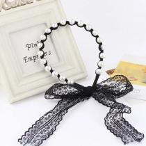 Elegant Pearl Lace Streamer Headband