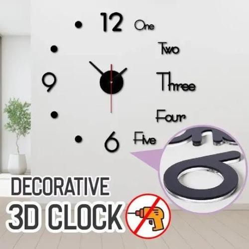 Decorative 3D Clock