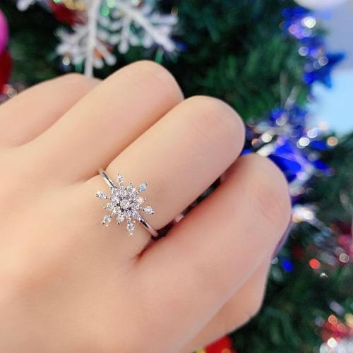 Dancing Rotating Lucky Snowflake Ring -Perfect Christmas New Year Gift!