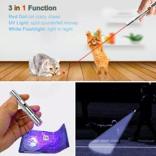 Pet Toy USB Rechargeable 5 In 1 Funny Cat Stick