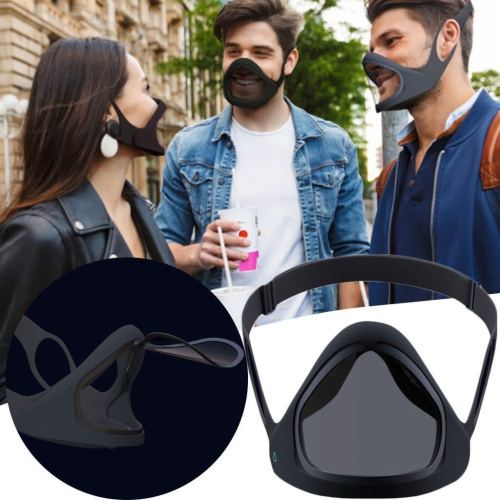 NEW Reusable Rotating Transparent Face Mask