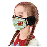 Children's Christmas Style Earmuffs Mask