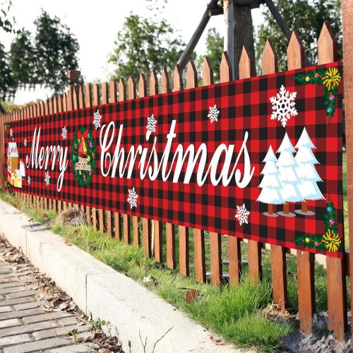 Christmas Sale!! Outdoor Banner Flag Pulling   Merry Christmas
