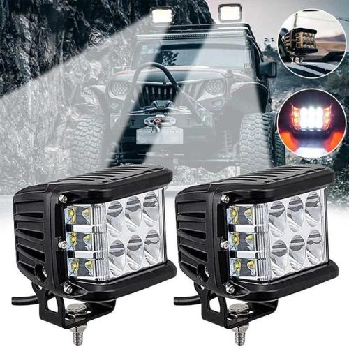 🎁50% OFF🎁Side Shooter Dual Color Strobe Cree Pods