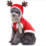🎄Cat Dog Christmas Outfit Costumes Reindeer Hoodie Jacket Pet Xmas Clothes Coat