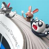Creative 3D Animal Bookmark