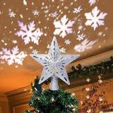 LED Christmas Tree Snow Projection Lamp