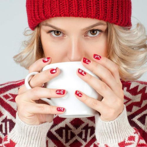 Christmas Nails - Nail Art Stamp Template