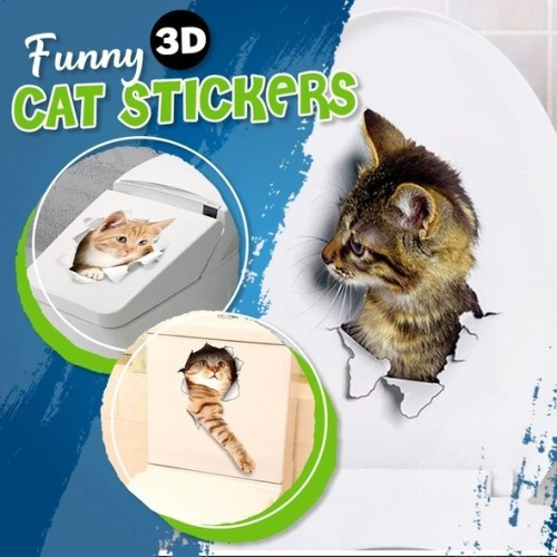 Funny 3D Cat Stickers