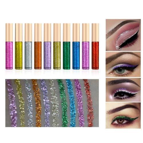 Coffeesoal -- 10 Colors Liquid Glitter Eyeliner