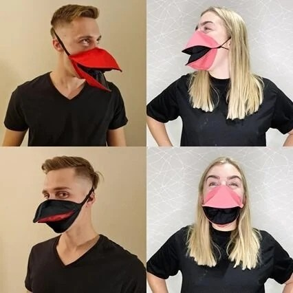 Unisex Hand Made Duck Talking Face Mask