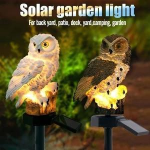 Solar Powered Guarding Owl LED Garden Lights