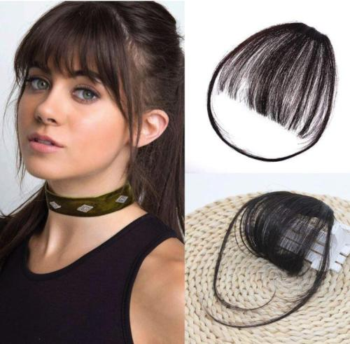 Clip in Human Hair Bangs Extensions