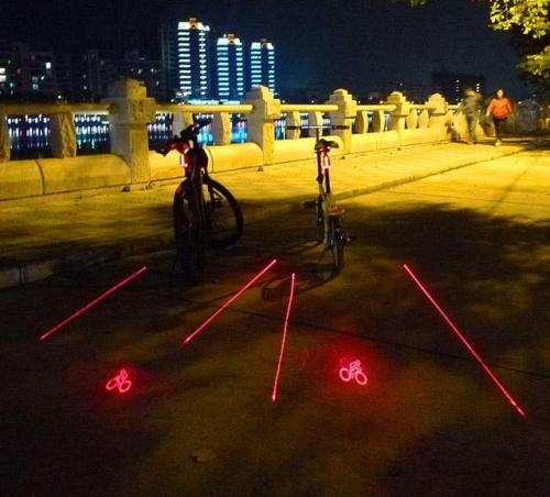 Laser Bike Light Rear Bike Tail Light