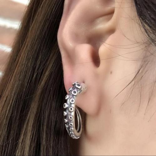 Octopus Hoop Earrings