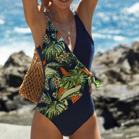 Bohemia Leopard Print One-piece Swimsuit