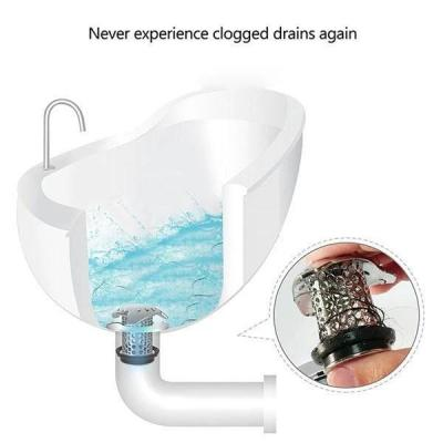Bath Tub Stainless Steel Drain Protector(1 Set)