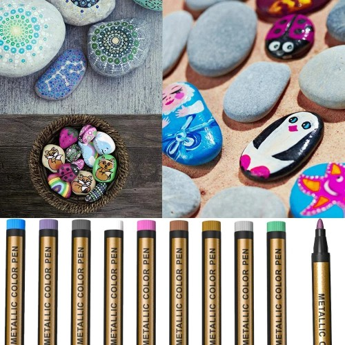 DIY Easter Eggs - Waterproof Paint Marker Pen(10-color suit)