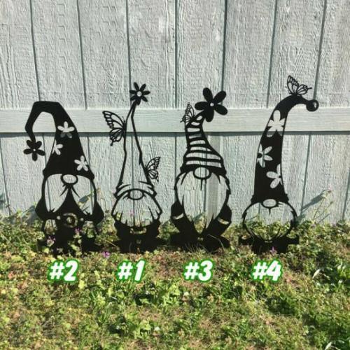 🌸Spring Decor💐-Steel Branch Gnomes Decoration
