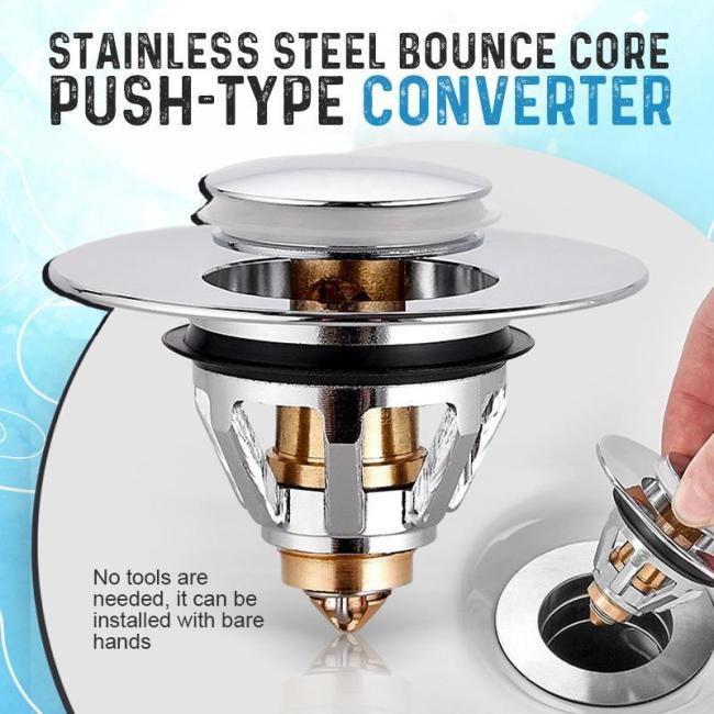 Stainless Steel Bounce Core Push-Type Converter-50%OFF For Summer Promotion
