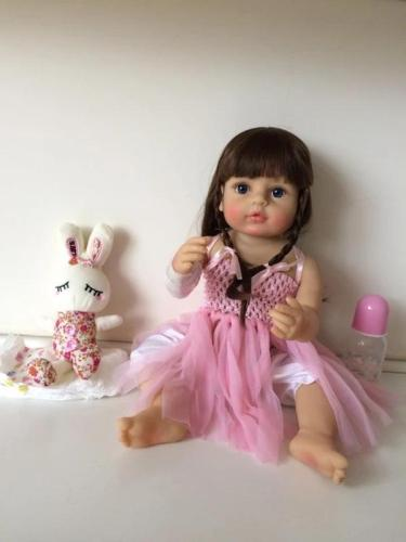 Lovely Blond Girl 22 Inch Lifelike Silicone Full Body Doll