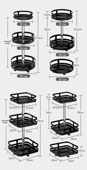 360° Rotating Storage Rack