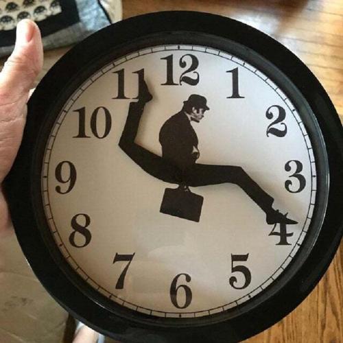Silly Walk Wall Clock