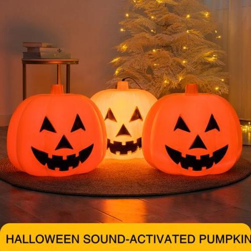 HALLOWEEN SOUND-ACTIVATED PUMPKIN