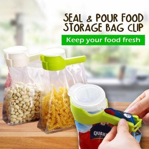 Seal Pour Food Storage Bag Clip