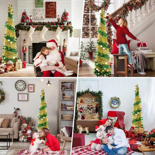 Pop Up Tinsel Christmas Tree
