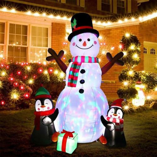 6ft Inflatable LED Snowman/ Penguins