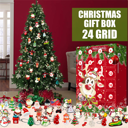 24Pcs 2021 Christmas Advent tree and Wall Resin Ornaments Tree Decor