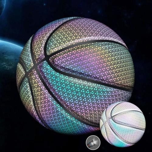 HOLOGRAPHIC REFLECTIVE GLOWING BASKETBALL