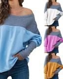 Women Plus Size Solid Loose Blouses
