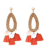 Women's Bohemian Fringed Shell Earrings