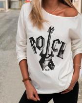 Women Print Casual Round Neckline T-Shirts