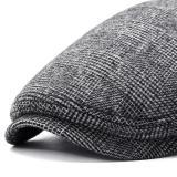 Winter Thicken Warm Woolen Beret Hat Adjustable Hat