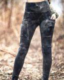 Women's High Waist Stitching Stretch Leggings Pants