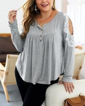 Fashion Long Sleeve All-match Blouse