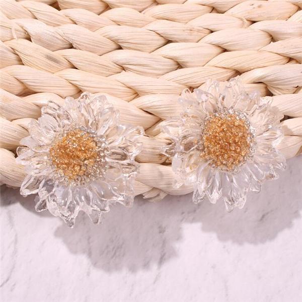 Women's Sweet Transparent Flower Earrings