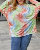 Fashion Hooded Tie-dye Sweatshirt