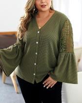 Elegant Solid Color Sweater Shirt