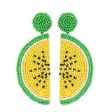 Women's Beads Watermelon Fruit Earrings