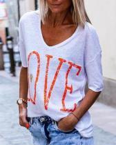 Fashion Short Sleeve Plus Size Printed T-Shirt