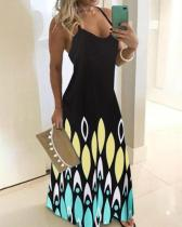Women's Plus Size Sexy Maxi Printed Dress