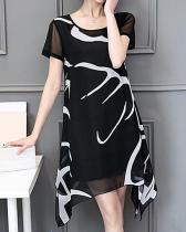 Plus Size Daily Weekend Chiffon Dress